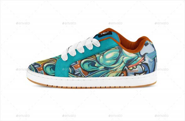 Skate Shoe Graphic PSD