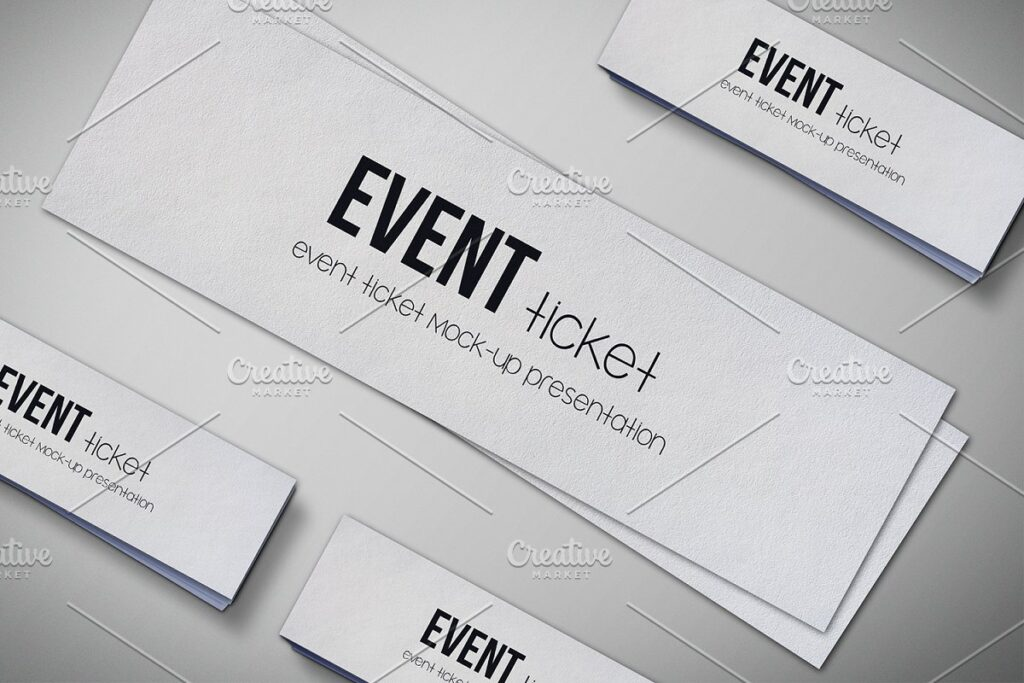 Slim ticket template design