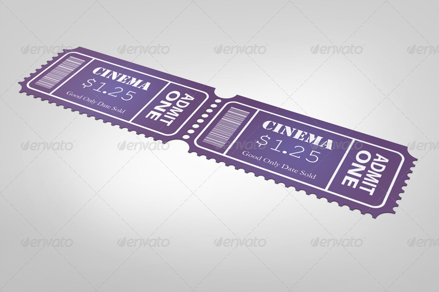 Small Event Ticket Mockup