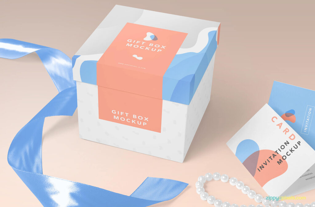 Small Gift Box Customizable PSD Design Template