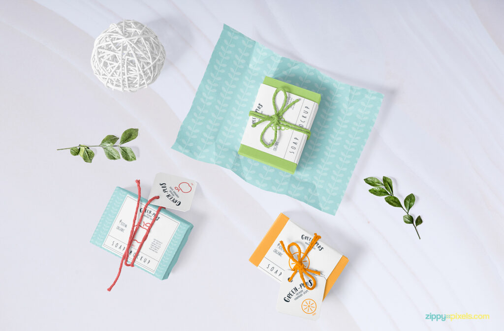 Soap Bar With Gift Wrapper Template