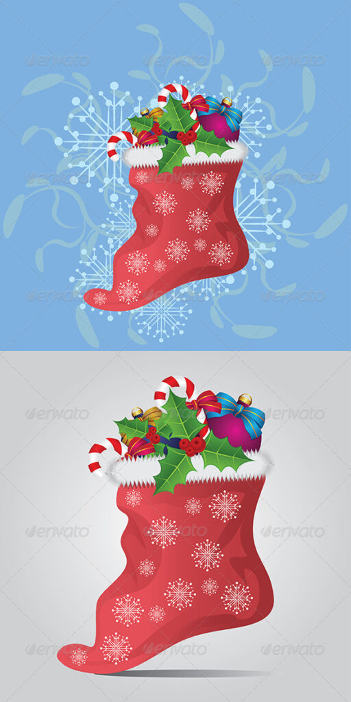 Socks For Christmas Vector.
