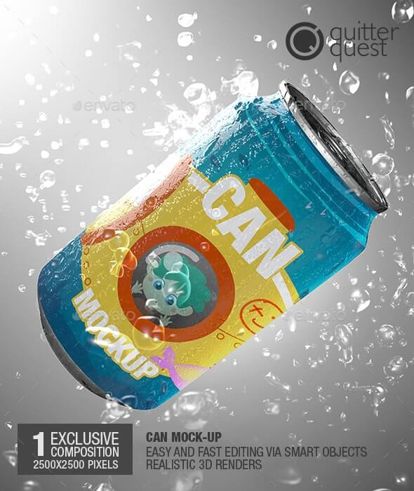 Soda Can / Beer Can / Soft Drink Can Mock-up