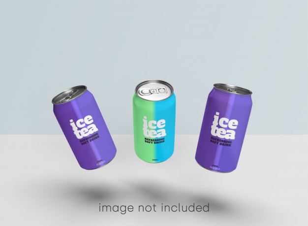 Soda can mockup psd collection Free Psd