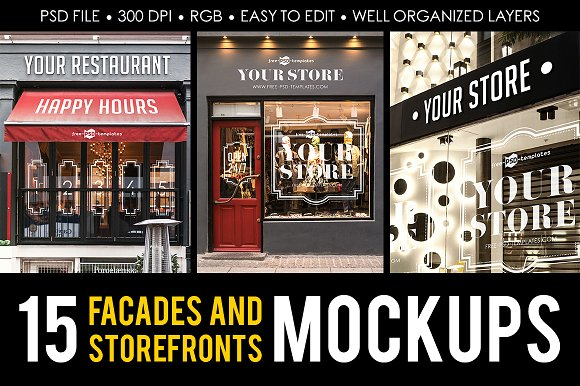 Special Bundles of Storefronts PSD File