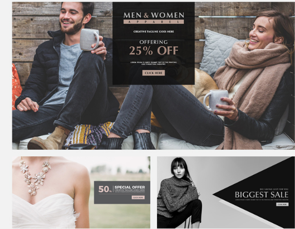 Special Men And Women Offer Web Banner