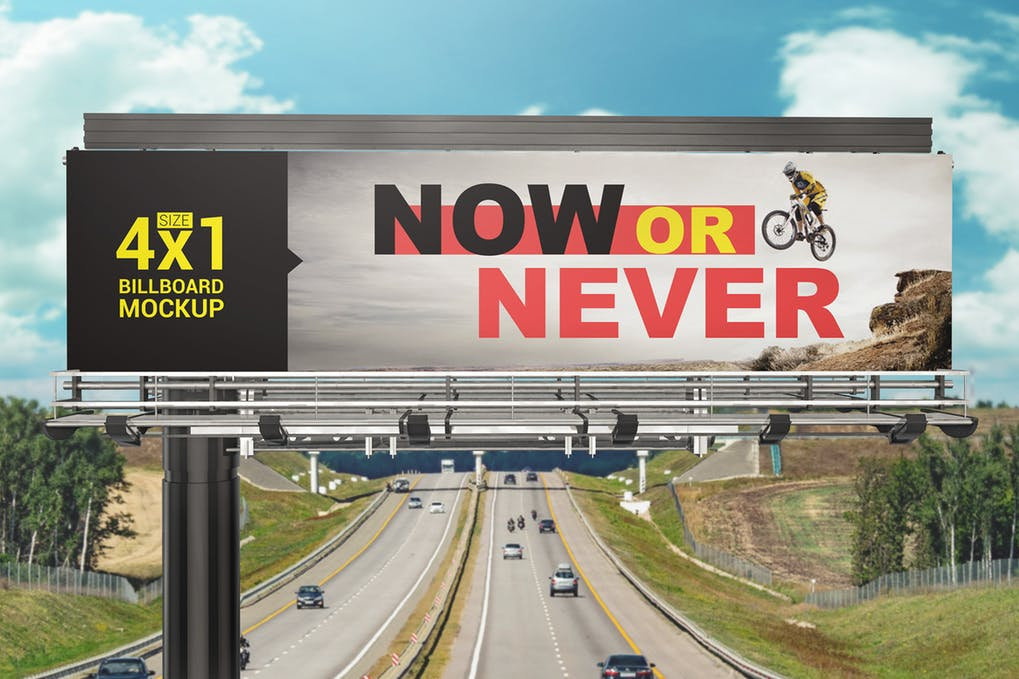 Sports street billboard PSD Design