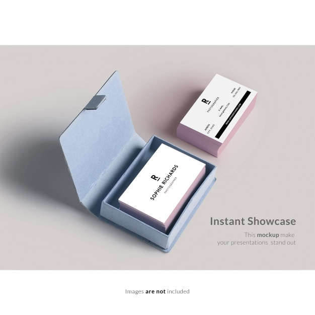 Square Box With Business Card Background