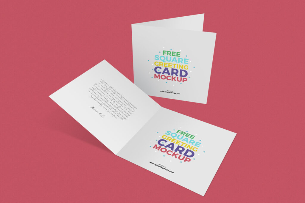Square Greetings Card Template