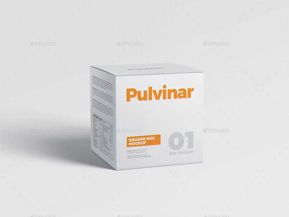 Square Medicine PSD Box Packaging