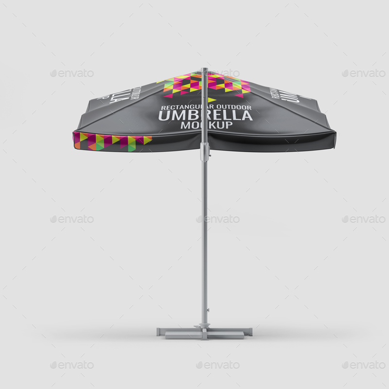 Square Shaped Editable Umbrella Mockup.