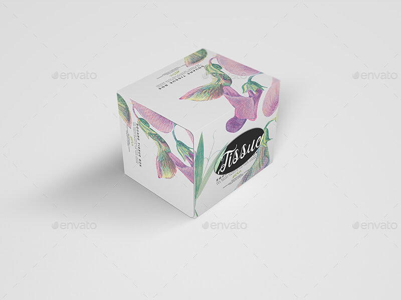 Square Tissue Box Mockup