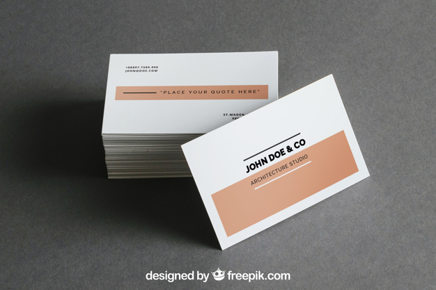 Stack of Square Business Card PSD