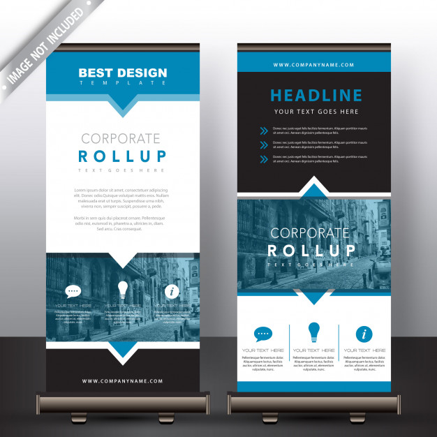 Standing Roll Up Web Banner PSD Design