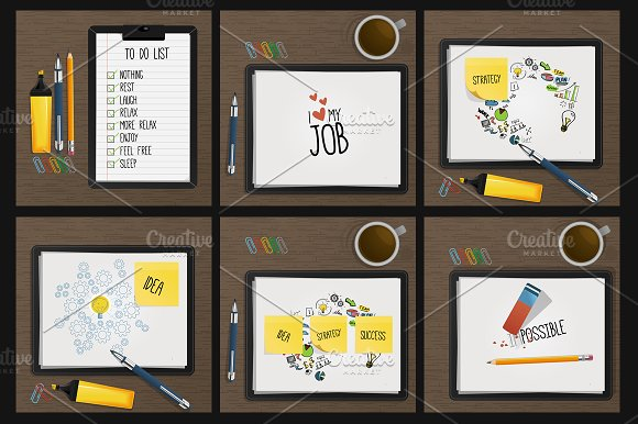 Sticky Notes Along With To Do List Mockup PSD