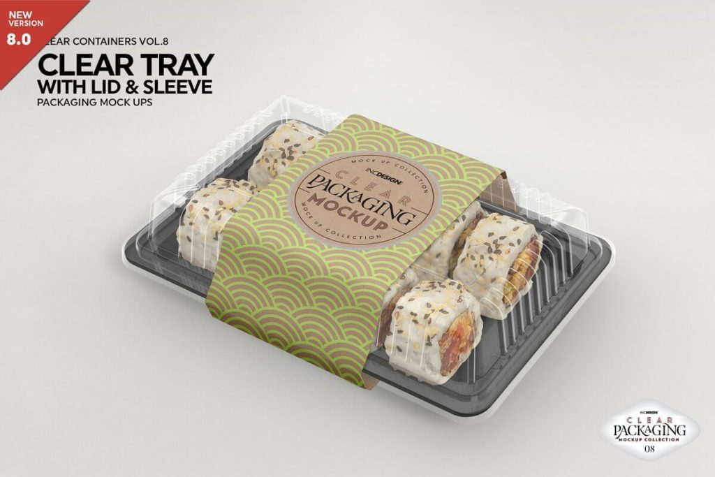 Sushi Box Mockup - Clear Tray