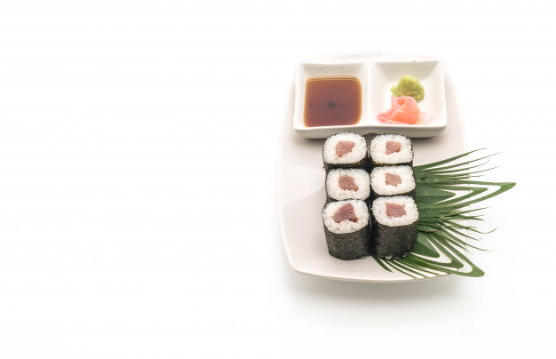 Sushi With Red Snapper Mockup