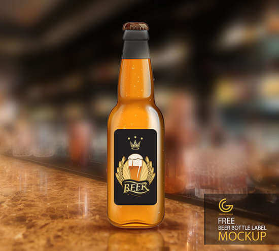 The Classic Beer Bottle Look Mockup: