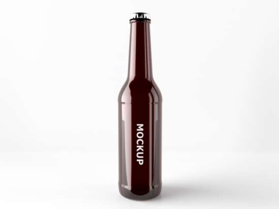 The Silk Look Beer bottle PSD Design: