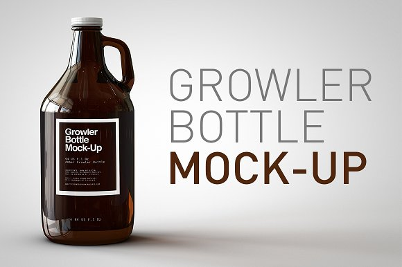 The jug Beer Bottle Design in PSD Format: