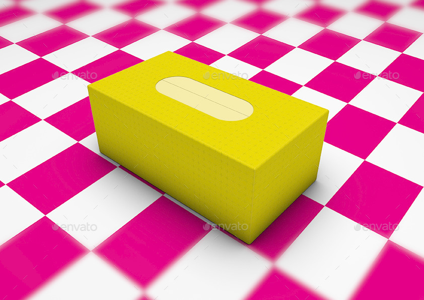 Tissue Box Paper Cardboard Box Mock-Up