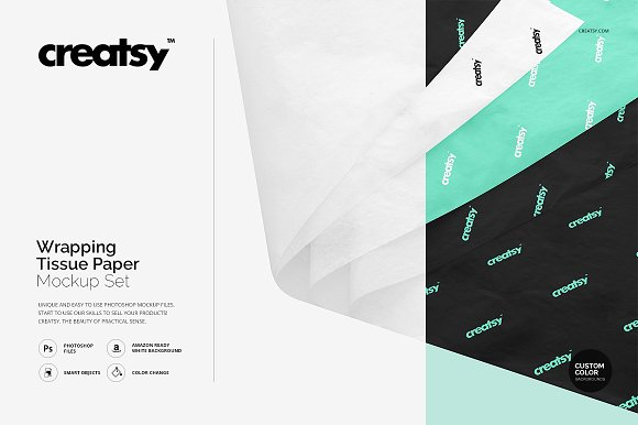 Tissue Wrapping Paper PSD Template