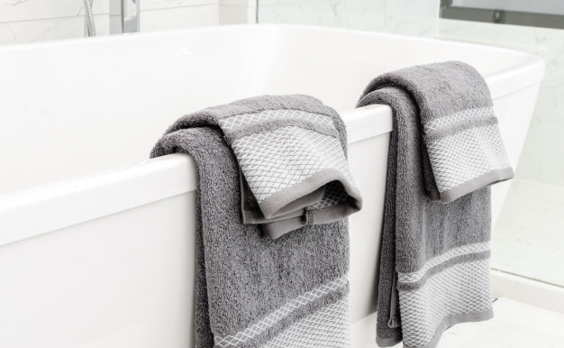 Towels In Grey Colour PSD