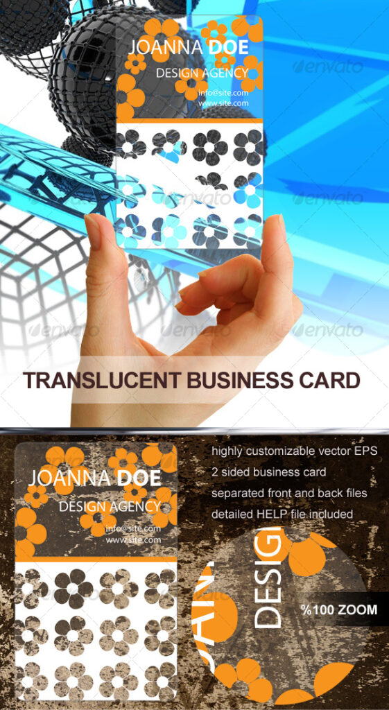 Translucent Plastic Card PSD Design.