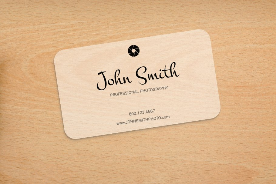 Transparent Realistic Business Card In Rounded Shape