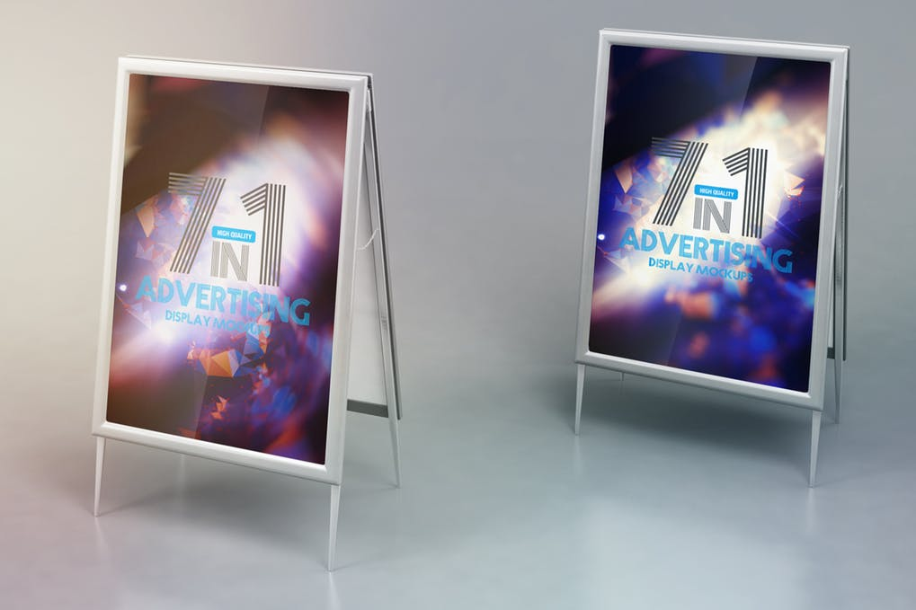Two Advertising Poster Mockup