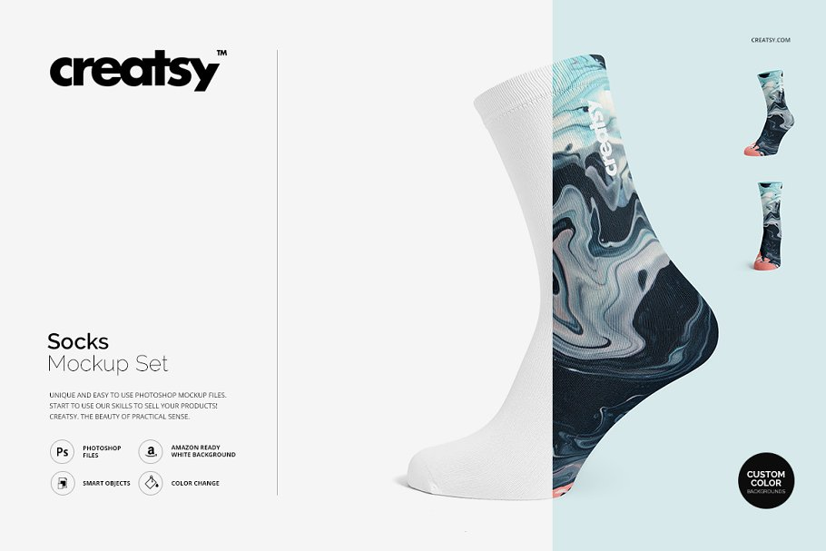 Uniquely Designed Socks PSD Template