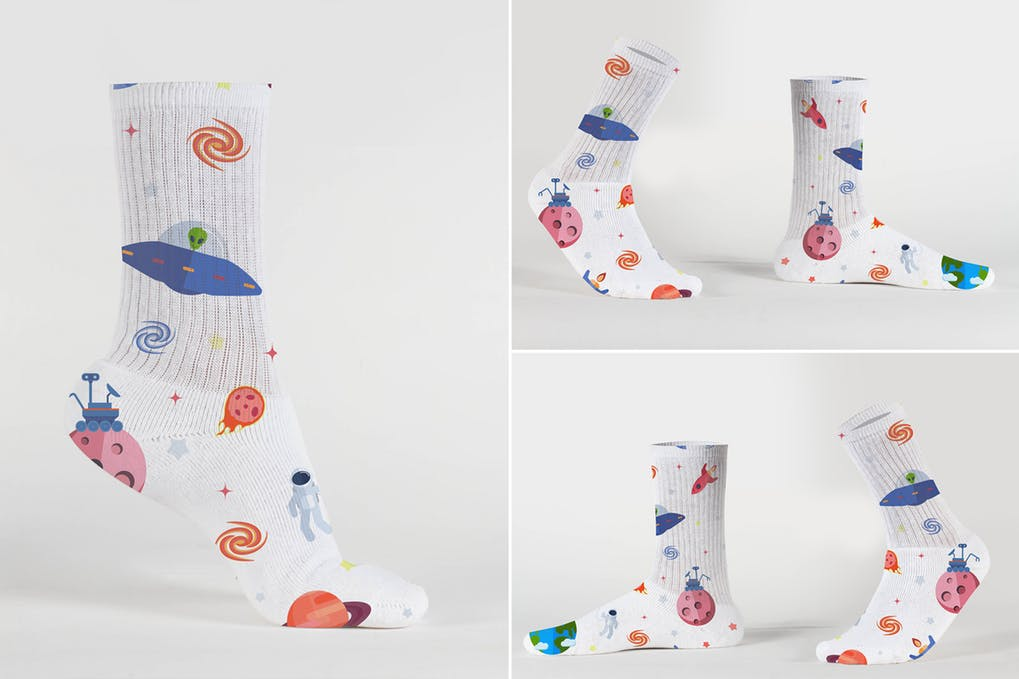 Unisex Socks PSD Template.