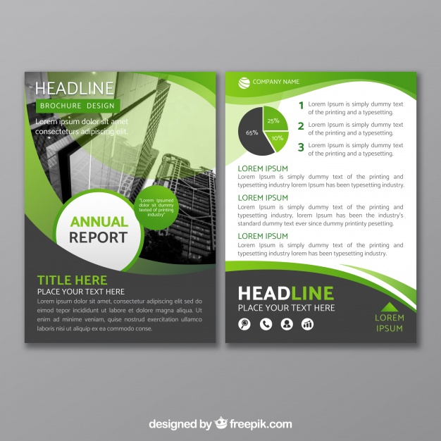 Vector Image Light Green Printed Brochure Design