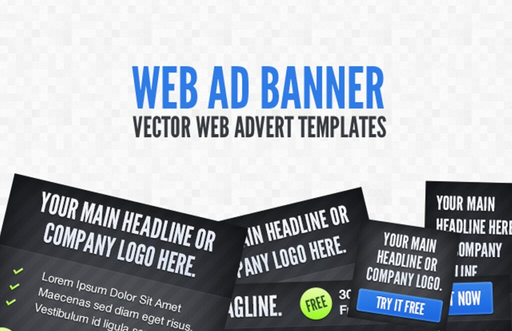 Vector Web Add Banner Mockup