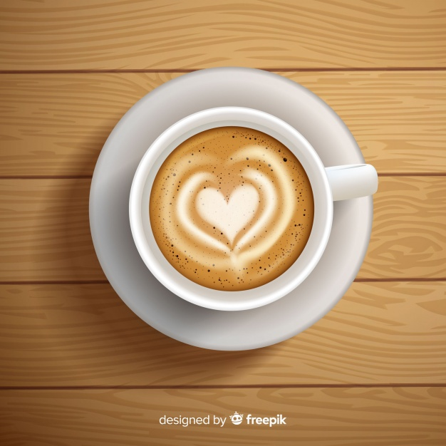 Vector illustration of Latte Art