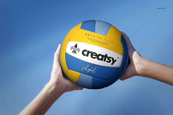 Volleyball Ball PSD Template Illustration