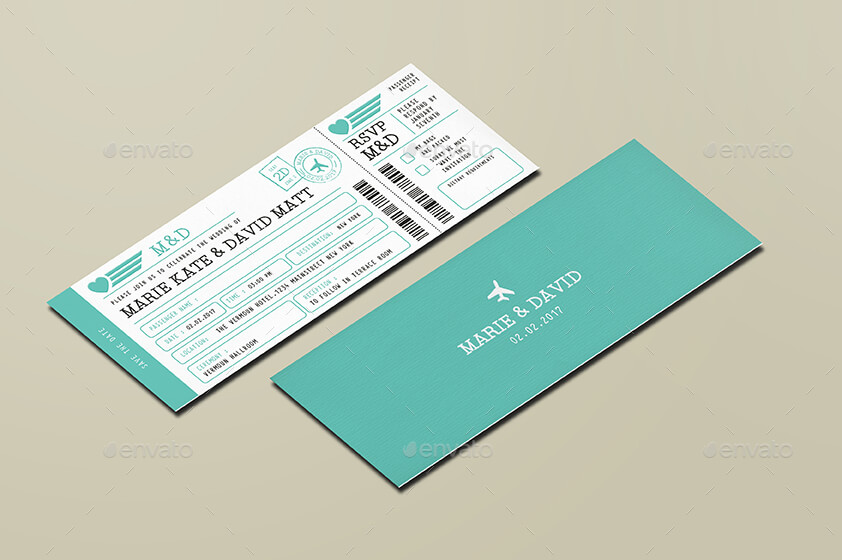 Wedding Invitation Ticket Premium