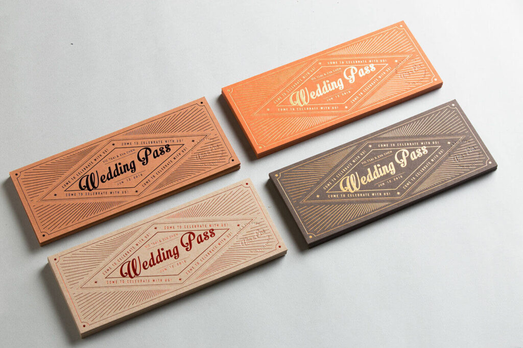Wedding Invitation Ticket Set