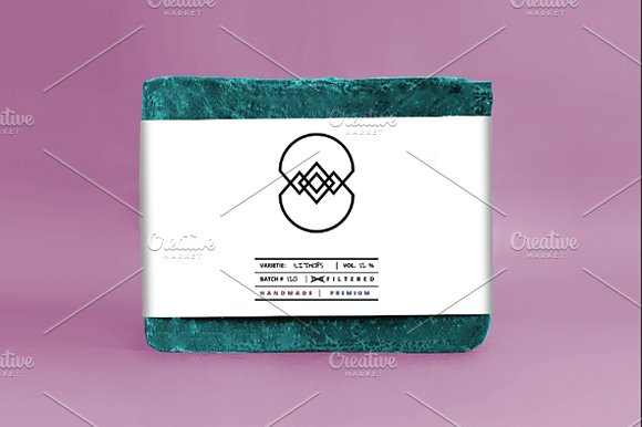 White Color Logo Printed Soap Box PSD template