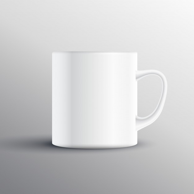 White Cup Vector File Illustration