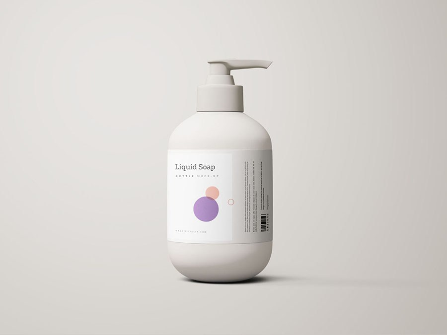 White Shampoo Bottle Mockup