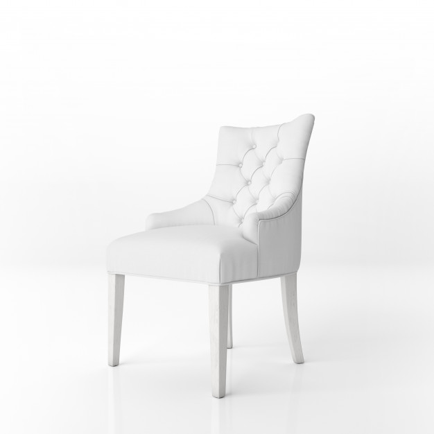 White padded armchair mockup Free Psd