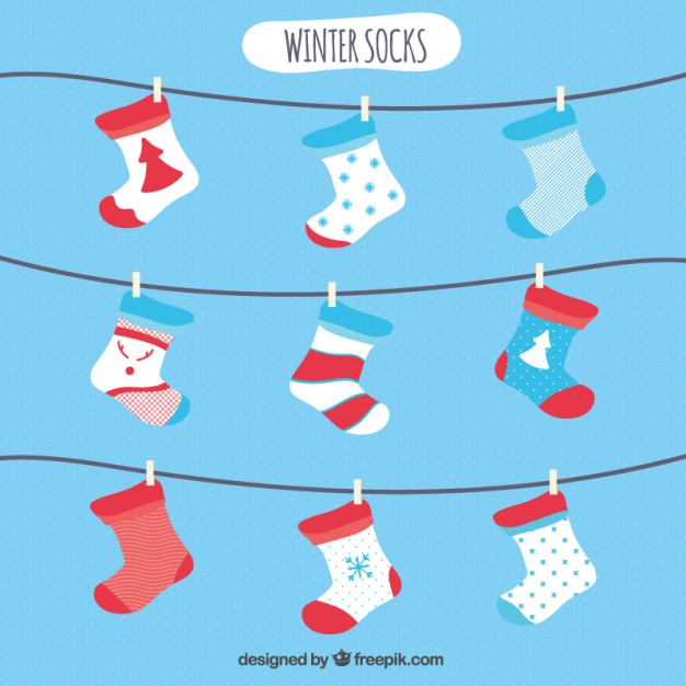 Winter Socks Vector.