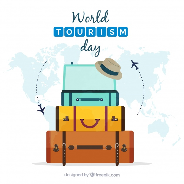 World Tourism Day Hang Tag Example Vector File