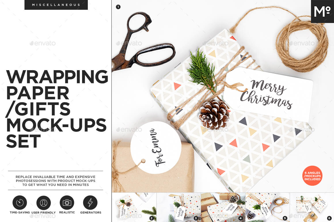 Wrapping Paper/ Gifts Mock-ups Set