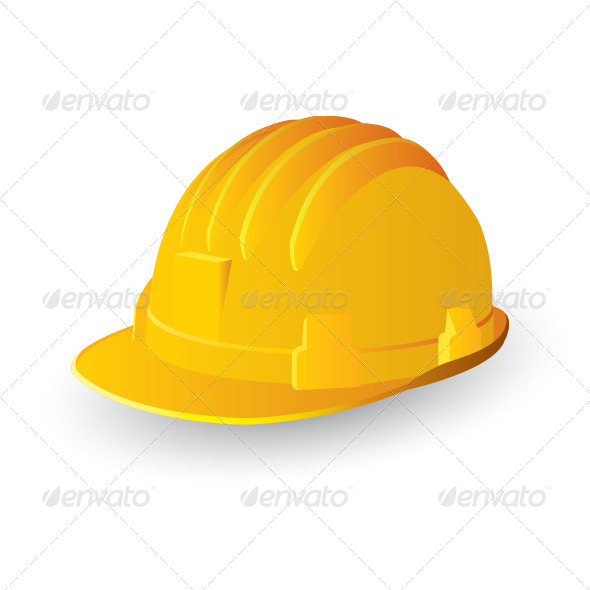 Yellow Color Hard Hat Vector File Illustration