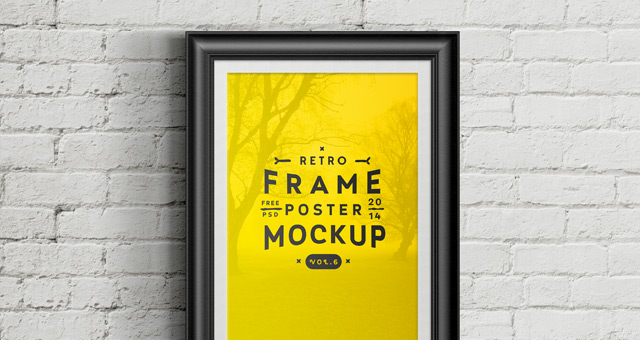 Yellow Color Poster Frame Mockup