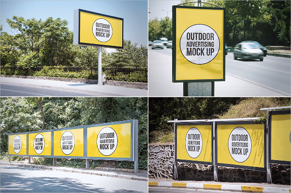 Yellow Outdoor Banner Template