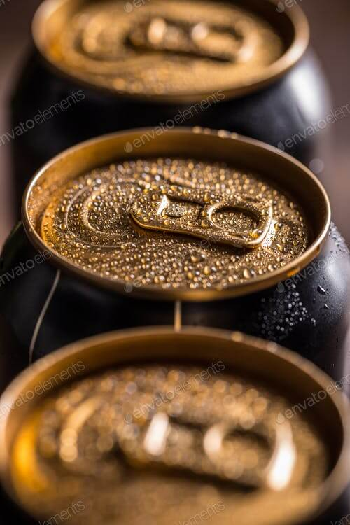 Zoomed Photo Of A Beer Can With Blurred Background