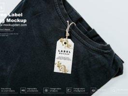 Free Label Tag Mockup PSD Template